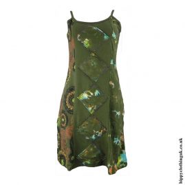 Green-Tie-Dye-Flower-Print-Hippy-Dress