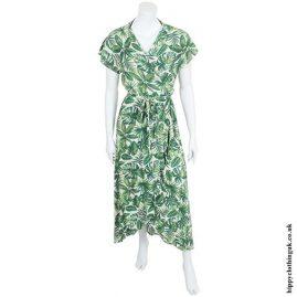Jungle Print Wrap Dress