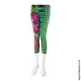 Multicoloured-Short-Tie-Dye-Leggings