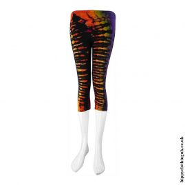Multicoloured-Short-Tie-Dye-Leggings