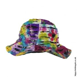 Multicoloured-Tie-Dye-Ripped-Effect-Hat