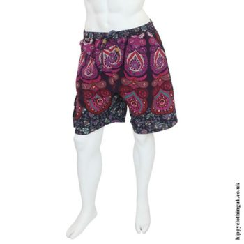 Pink Male Throw Shorts