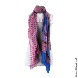Pink-and-Blue-Recycled-Sari-Scarf