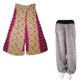 Recycled Sari Silk Trousers