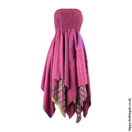 Red-&-Pink-Recycled-Sari-Pixie-Hem-Hippy-Dress-Skirt