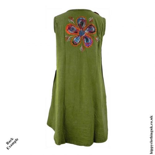 Short-Embroidery-Patchwork-Hippy-Dress-Back-Example