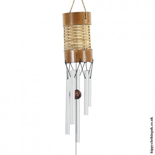 Small Rattan and Metal Windchime