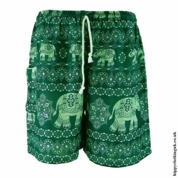 Thai-Male-Hippy-Rayon-Long-Shorts-Green