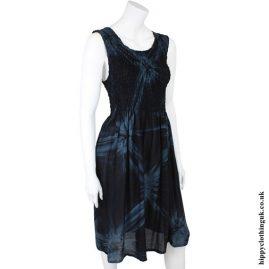 Black & Blue Tie Dye Dress
