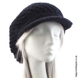 Black Knitted Woollen Hat
