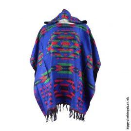 Blue-Acrylic-Wool-Hippy-Poncho