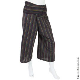 Blue Stripey Yoga Trousers