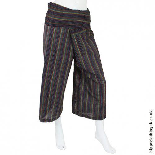 Blue Stripey Yoga Trousers