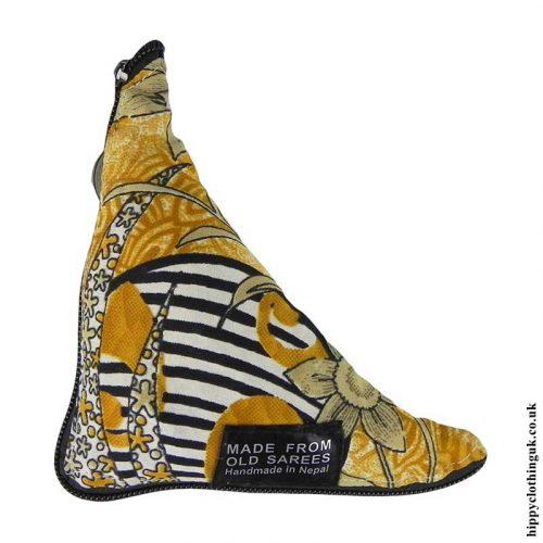 Golden-Yellow-Recycled-Saree-Fold-Out-Hippy-Bag
