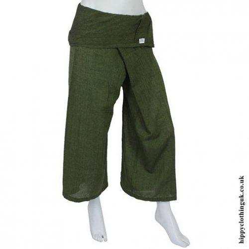 Green Yoga Trousers