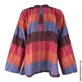 Hippy-Nepalese-Striped-Cotton-Grandad-Shirts