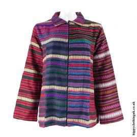 Multicoloured-Lightweight-Acrylic-Wool-Jacket