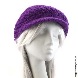 Purple Knitted Woollen Hat