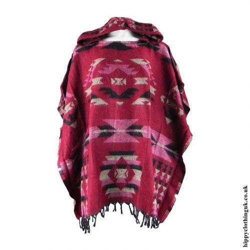 Red-Acrylic-Wool-Hippy-Poncho