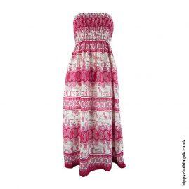 Red-Elephant-Print-Rayon-Maxi-Dress