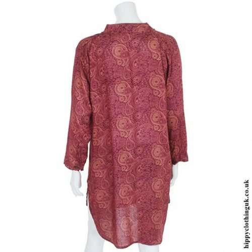 Red Paisley Tunic Back