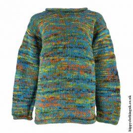 Turquoise-Tie-Dye-Hippy-Wool-Jumper