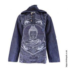 Blue-Printed-Buddha-Hooded-Top