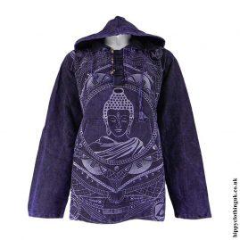 Dark-Purple-Printed-Buddha-Hooded-Top