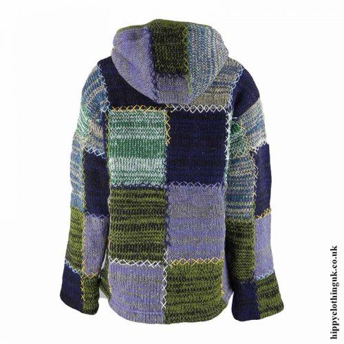 Green-Fleece-Lined-Hooded-Wool-Jacket-Back