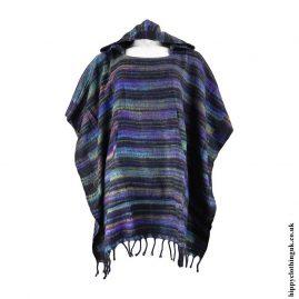 Multicoloured-Acrylic-Striped-Poncho