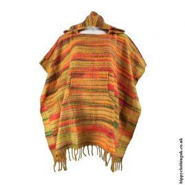 Orange-Acrylic-Striped-Poncho