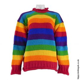 Rainbow-Striped-Hippy-Wool-Jumper