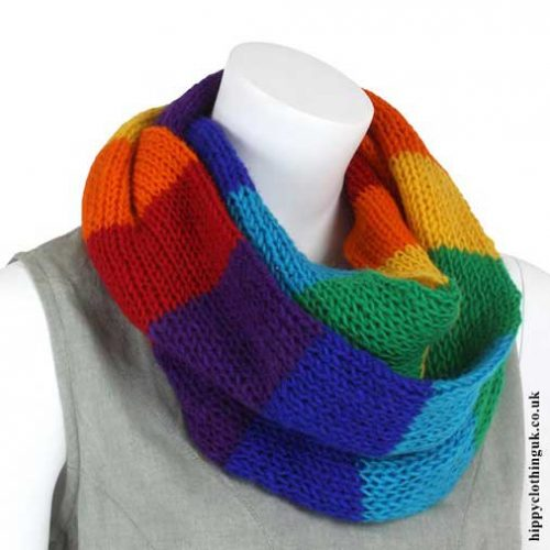 Rainbow-Wool-Snood