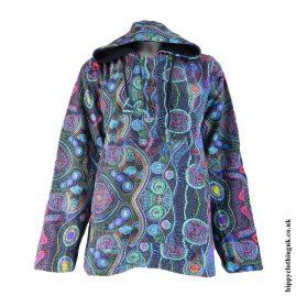 Fleece-Lined-Psychedelic Hooded-Jacket