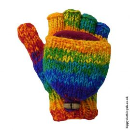 Multicoloured-Two-in-One-Fingerless-and-Mitten-Wool-Gloves