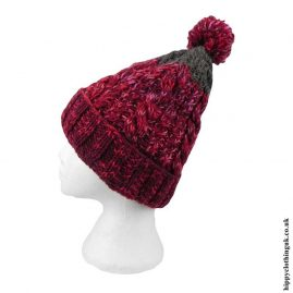 Red-Multifleck-Wool-Bobble-Hat