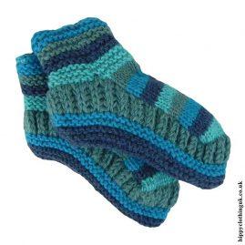 Blue-Fleece-Lined-Wool-Socks