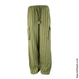 Green-Striped-Cotton-Hippy-Trousers