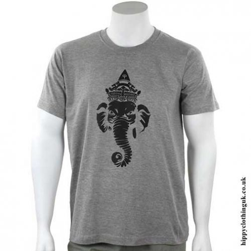 Grey-Ganesh-T-Shirt