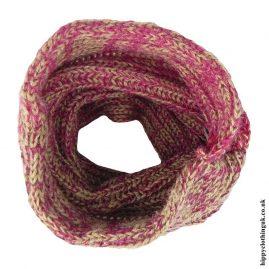Beige-Knitted-Wool-Snood