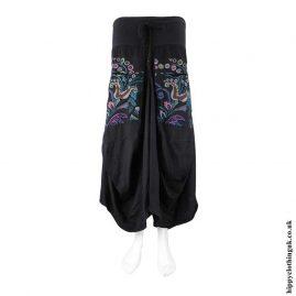 Black-Flower-Embroidery-Balloon-Skirt