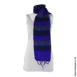 Blue-Mix-Striped-Acrylic-Scarf