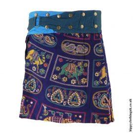 Blue-Patterned-Popper-Skirt