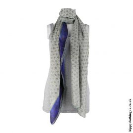 Cream-&-Blue-Recycled-Sari-Scarf