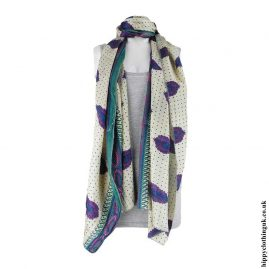 Cream-Recycled-Sari-Scarf