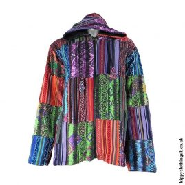 Multicoloured-Cotton-Patchwork-Hooded-Jacket