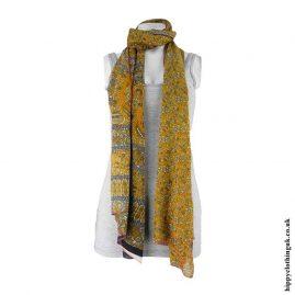 Orange-Recycled-Sari-Scarf