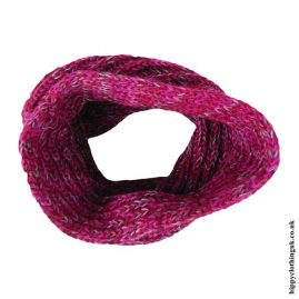 Pink-Knitted-Wool-Snood