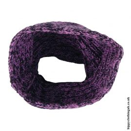 Purple-Knitted-Wool-Snood