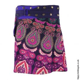 Purple-&-Pink-Patterned-Popper-Skirt